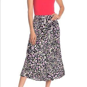 Abound Printed Black Midi Slip Skirt XXL NWT